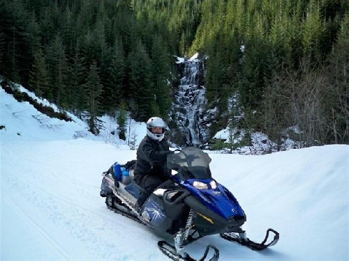 Snowmobiling Vancouver Island